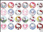 24 x Hello Kitty 1.6'' rice paper cake toppers tops